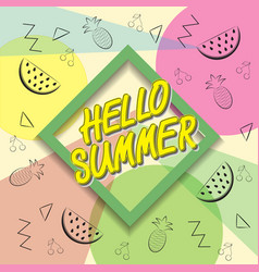 hello summer travel the trend calligraphy vector image vector image