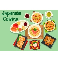 Japanese cuisine dishes icon for menu design vector image vector image