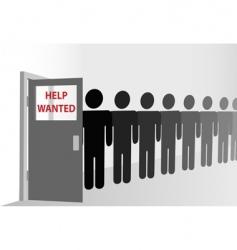 job queue vector image vector image