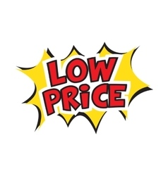 low price banner design vector image