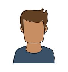 man avatar profile vector image