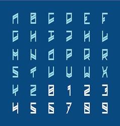 Modern decoration font narrow geometric style vector