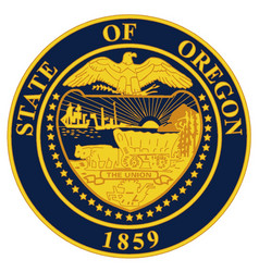 oregon state seal vector image vector image