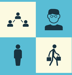 Person icons set collection of network member vector