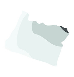 political map of the state of oregon vector image