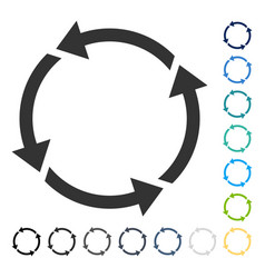 recycle icon vector image