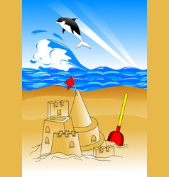 sandcastle vector image