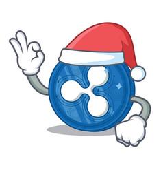 Santa ripple coin character cartoon vector