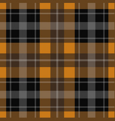 seamless orange black tartan - white stripes vector image vector image