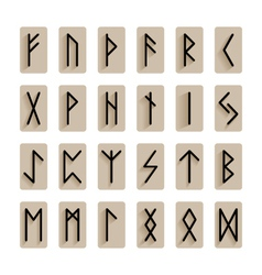 set of signs runes isolated vector image vector image
