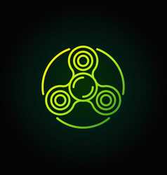 spinner green line icon vector image vector image