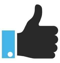 Thumb up flat pictogram vector