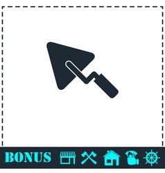 Trowel icon flat vector image