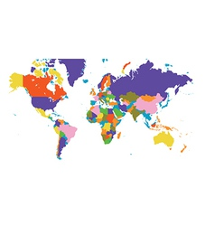 World atlas map vector