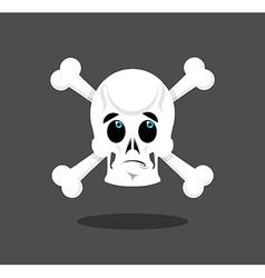 Surprised skull emotion Crossbones Discouraged vector image