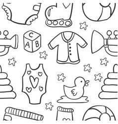 baby object doodles vector image