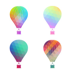 the air balloon colorful icon vector image