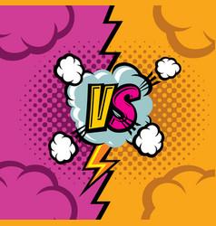 Versus cartoon comic book background vector