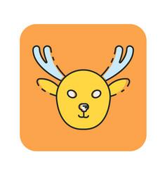 Flat color moose icon vector