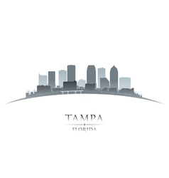 Tampa Florida city skyline silhouette vector image