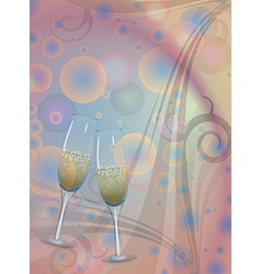 Toast champagne wine vector