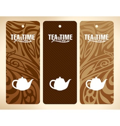 Tea time banners vector