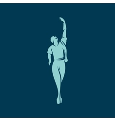 Man dancing ballet sign vector