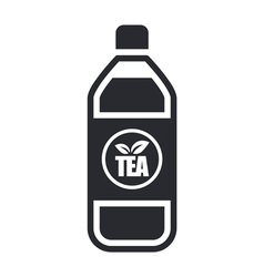 Tea bottle icon vector
