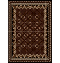 Motley rug in maroon and brown shades vector image