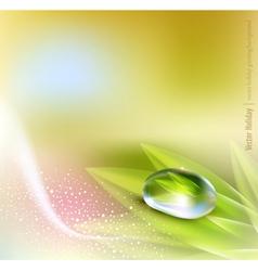 pastel colors nature vector image