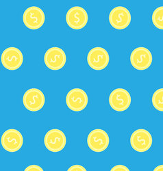 Golden coin pattern vector image