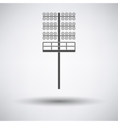 Soccer light mast icon vector
