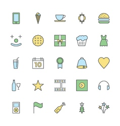 Celebration and party bold icons 3 vector