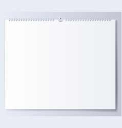 Blank template wall calendar for spring vector