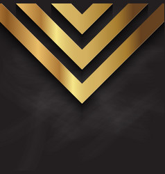 Abstract gold design on blackboard texture vector
