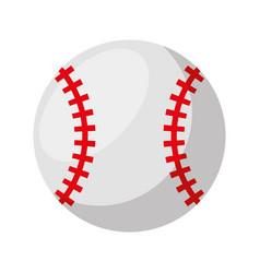 baseball ball isolated icon vector image vector image