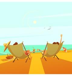 Beach rest vector
