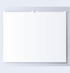 Blank template wall calendar for spring vector