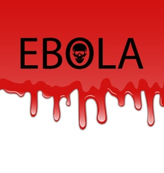 Bloody background with ebola virus - vector