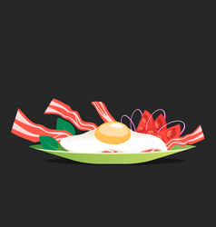 Breakfast with egg and bacon vector