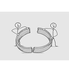 Broken ring divorce vector