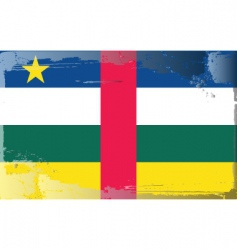 central African republic flag vector image vector image