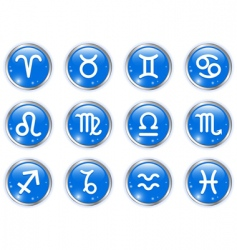 circle buttons with zodiac signs vector image vector image