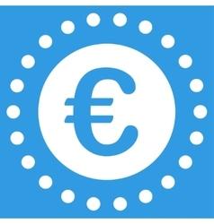Euro gold coin icon vector