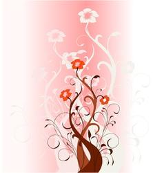 Floral fantasy background vector image vector image