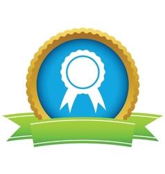 Gold medal logo vector image