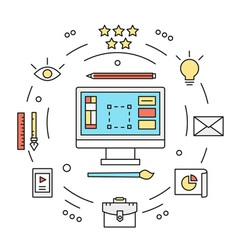 Graphic designer equipments design vector image vector image