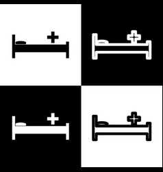 Hospital sign black and vector