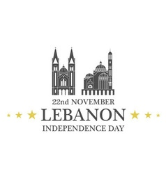 Independence day lebanon vector