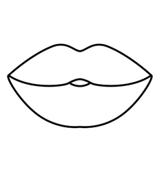 Isolated female mouth design vector image vector image